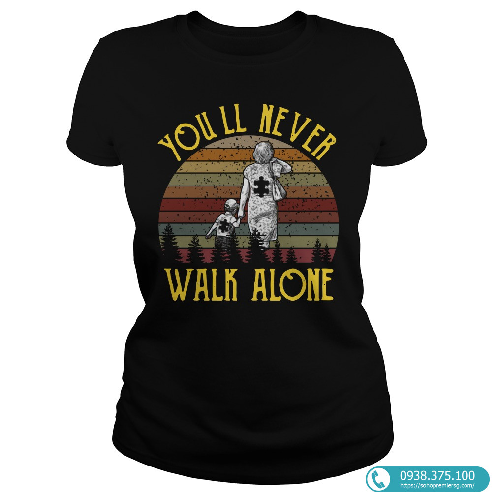 Sunset Pieces Puzzle Mom And Me You'll Never Walk Alone Shirt