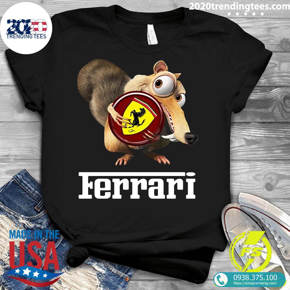 Brown Chipmunk Scuderia Ferrari Shirt