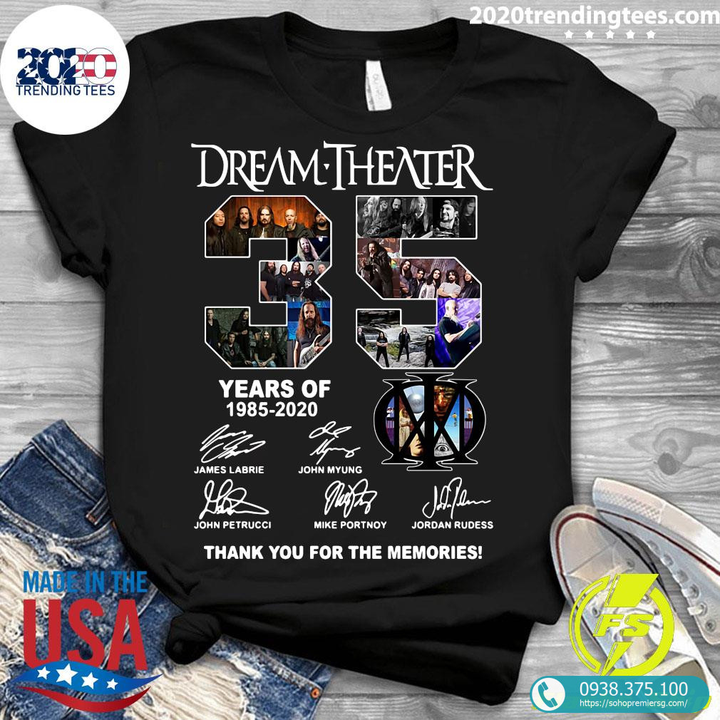 Dream Theater 35 the Year Of 1985 2020 Shirt